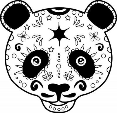 Bild vector illustration of a black and white panda's head