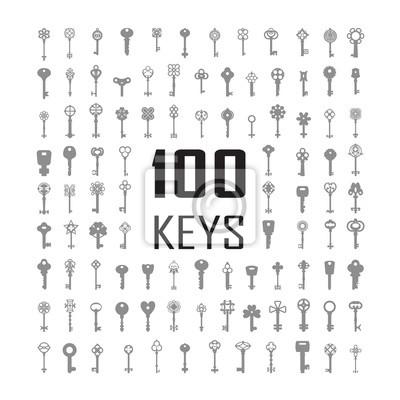 Bild Vector Illustration of keys. Big icon set.