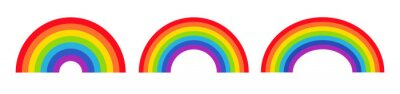 Bild Vector illustration of rainbow icon