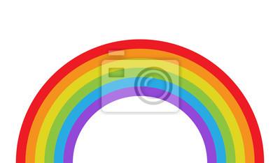 Bild Vector illustration of rainbow in flat style.