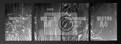 Bild vector illustration. texture transparent stretched film polyethylene. vector design element graphic rumpled plastic warp