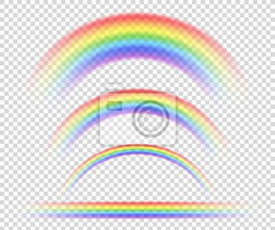 Bild Vector isolated rainbow object, on transparent background, symbol of sexual minorities.