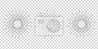 Bild Vector isolated vintage sun rays for decoration and covering on the transparent background. Concept of sunburst and retro design.