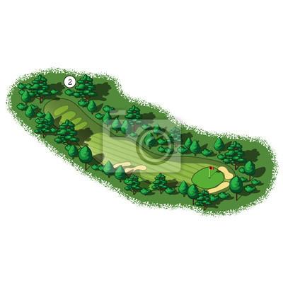 Vector-Loch-Golfplatz Luft isometrische Ansicht