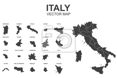 Bild vector map of italy with borders of regions