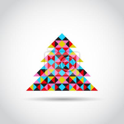 Vector minimalistische Karte mit Weihnachtsbaum