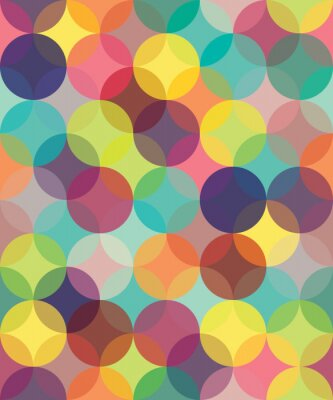 Bild Vector modern seamless colorful geometry pattern circles overlapping  , color abstract geometric background,wallpaper print,  retro texture, hipster fashion design,