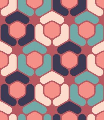 Bild Vector moderne nahtlose bunte Geometrie Sechseck Muster, Farbe abstrakten geometrischen Hintergrund, Kissen mehrfarbigen Druck, retro Textur, Hipster-Mode-Design