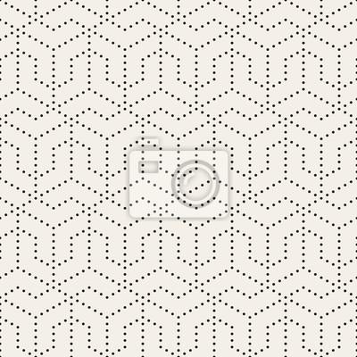Vector nahtlose schwarz-weiß gepunktete linien raster muster ...
