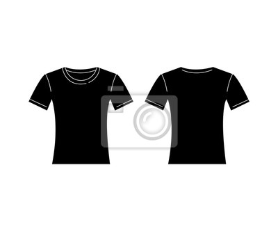 Bild Vector Of Women Black T Shirt Template Front And Back