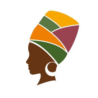 Bild Vector Profil der afrikanischen Frau mit Hut