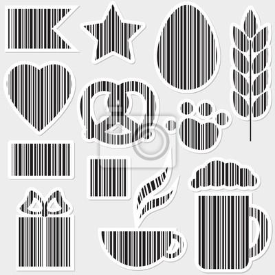 Vector Reihe von Barcodes in verschiedenen Formen