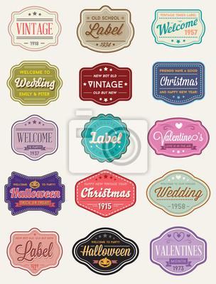 Bild Vector Satz von Vintage Retro Styled Premium-Design-Etiketten