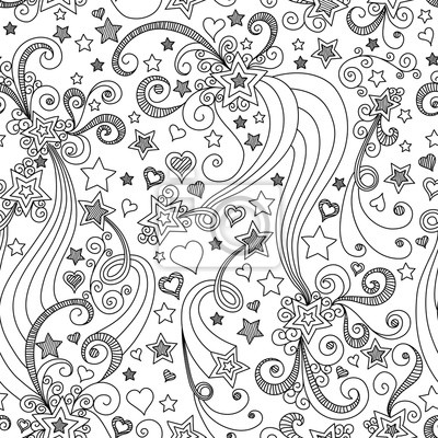 Bild vector seamless black and white star pattern