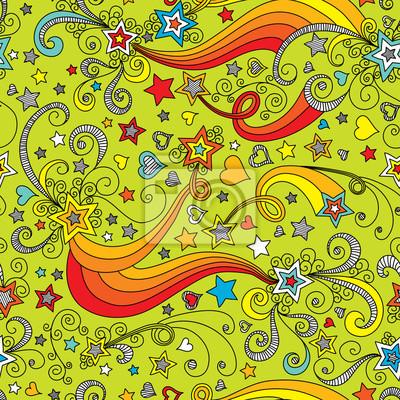 Bild vector seamless color star pattern