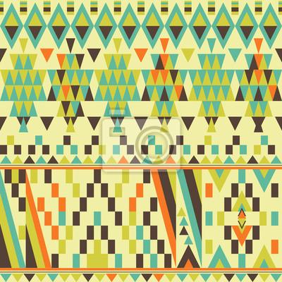 Vector seamless ethnische Muster, trendy Hintergrund