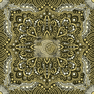 Bild vector seamless gold pattern of spirals, swirls, chains