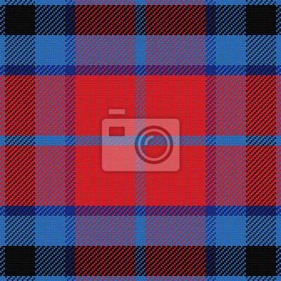 Bild vector seamless red and blue Scottish tartan