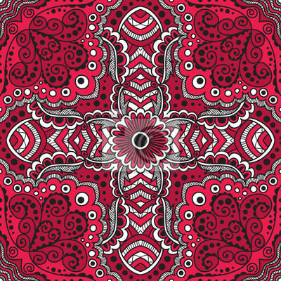 Bild vector seamless red pattern of spirals, swirls, chains