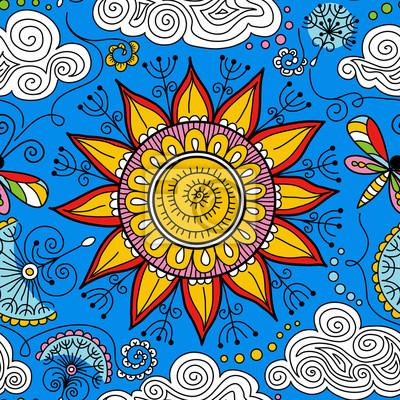 Bild vector seamless sunny floral pattern