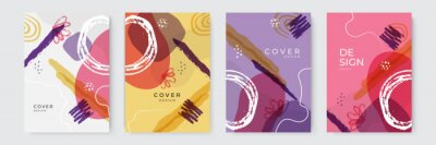 Bild Vector set of abstract creative backgrounds in minimal trendy style with copy space for text - design templates for social media stories and cover design