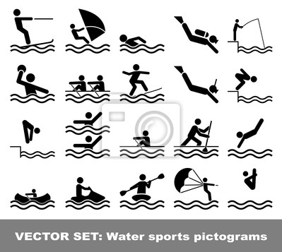 Vector set Wassersport Piktogramme
