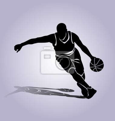 Vector Silhouette Basketballspieler