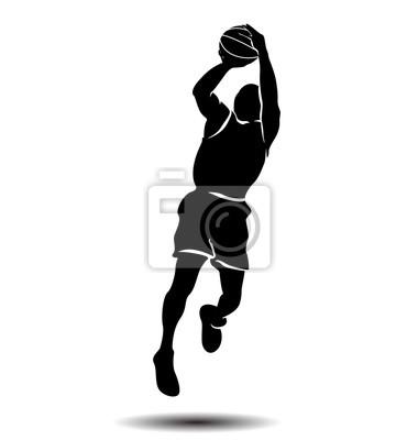 Vector Silhouette eines Basketball-Spieler