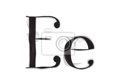 Bild Vector Smoke oder Haze Letter Schriftart, zwei Buchstaben