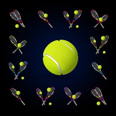 Bild Vector Tennis-Symbole als Designelemente, Tennisbälle, Tennis r