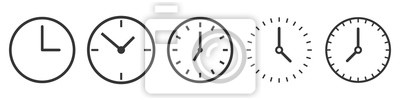 Bild Vector Time and Clock icons in thin line style.