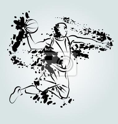 Vector Tinte Illustration der Basketball-Spieler