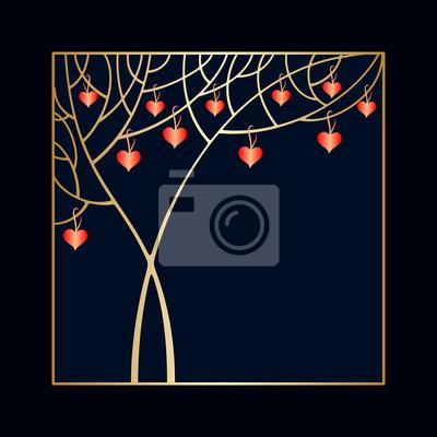Vector Valentinstag Einladung Leinwandbilder Bilder Nubes 14