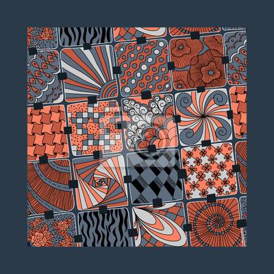Bild vector varicolored pattern zentangle