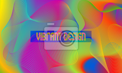 Vector vibrant design background with chaotic swirling guilloche element.