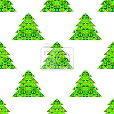 Vector Weihnachten Muster mit geometrischen Bäume
