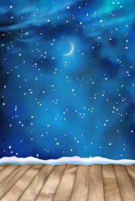 Bild Vector Winter-Nacht Wolken Hintergrund