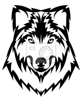 Bild Vector Wolf Kopf Als Design Element Auf Isolierte Hintergrund