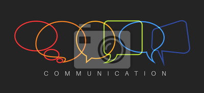 Bild Vektor abstrakte Kommunikation Konzept Illustration
