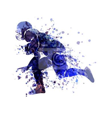 Vektor Aquarell Sketch Spieler des amerikanischen Fußballs