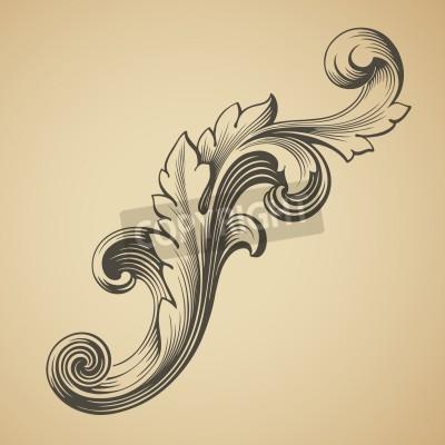 Bild vektor Barock Design-Rahmen Musterelement Gravur Retro-Stil