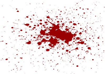 Bild Vektor-Blut-Spritzer isoliert