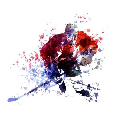 Vektor bunte Darstellung der Hockey-Spieler