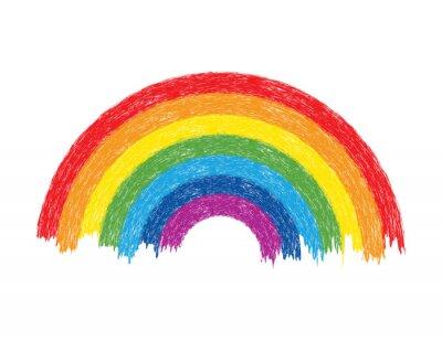 Bild Vektor bunte Regenbogen-Abbildung