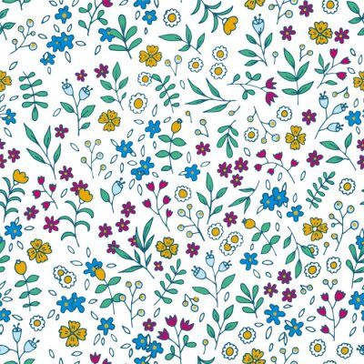 Bild Vektor bunten floralen nahtlose Muster