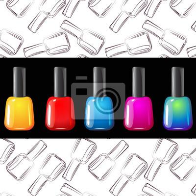 Vektor der Farbe Nagel gesetzt Polituren auf Muster