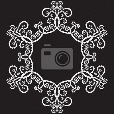 Bild Vektor-doodle Muster der Spiralen, wirbelt und Blumen