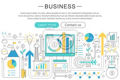 Fantastisch Bild Vektor Elegante Dünne Linie Flache Moderne Kunst Design Business  Finanzen Disziplin Konzept. Website