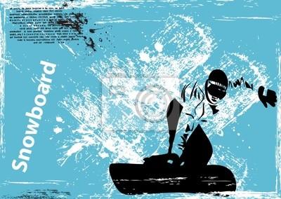 Vektor-Grunge-Hintergrund Snowboard