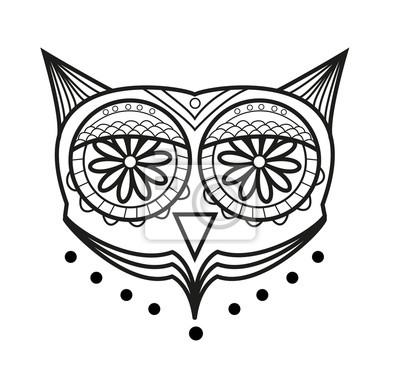 Vektor Illustration Der Eule Augen Vektor Für Das Färben Occhi